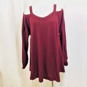 UMGEE Cold Shoulder Trapeze Tunic Top